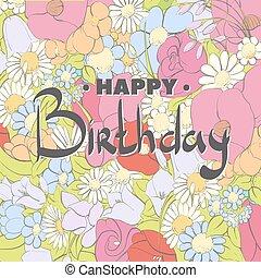 differente, compleanno, colori, fondo, decorare