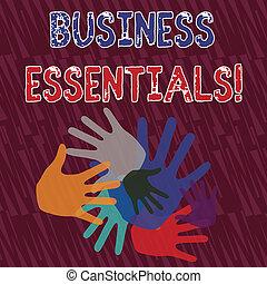 differente, foto, affari, formati, colorare, testo, esposizione, creativity., idee, ricoprendo, segno, essentials., importante, lavoro squadra, chiave, contrassegni, concettuale, abilità, mano, migliorare