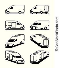 differente, furgone, prospettiva