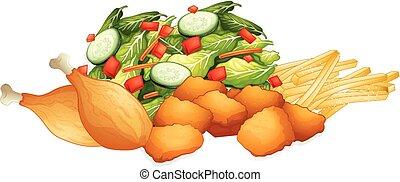 differente, generi, di, cibo
