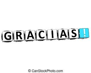 differente, gracias, parola, ringraziare, molti, -, languages., lei