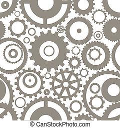 differente, ingranaggio, seamless, struttura, ruote, o