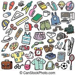 differente, oggetti