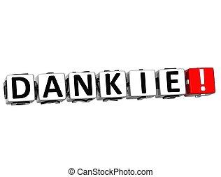 differente, parola, ringraziare, dankie, molti, -, languages., lei