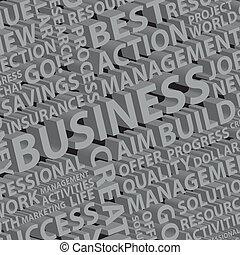 differente, parole, affari, fondo, 3d