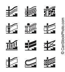 differente, railings, tipi
