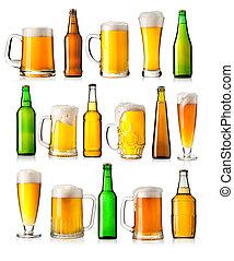 differente, set, birra