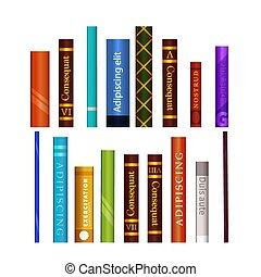 differente, set, libri, bianco, colorito