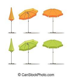 differente, set, parasoli