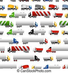 differente, tipi, di, camion
