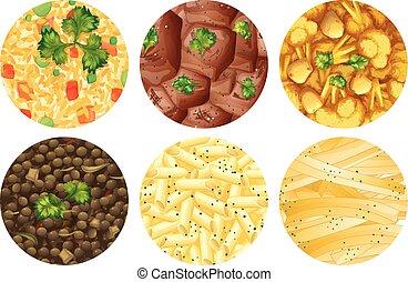 differente, tipo, di, cibo