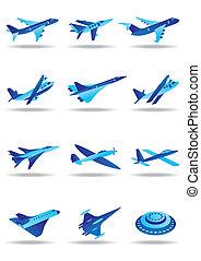 differente, volo, aeroplani