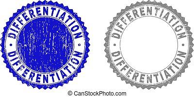 differentiation, francobollo, textured, grunge, sigilli