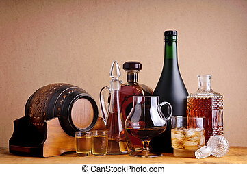 alcoholic drinks - differnts alcoholic drinks, brandy,...