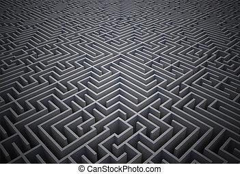 difficile, puzzle, labyrinthe