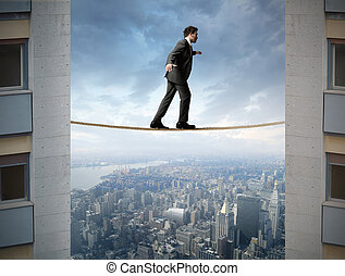 Difficult business - Concept of businessman and difficult...
