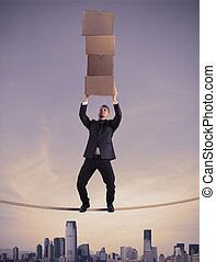 Concept of difficult career in business