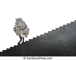 Difficult career - Concept of difficult career in business...
