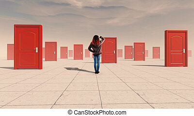 Difficult decisions doors