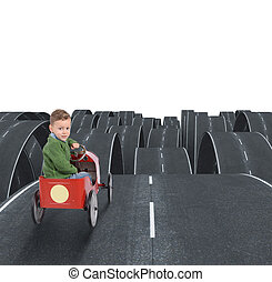 Difficult future of a kid with disjointed streets