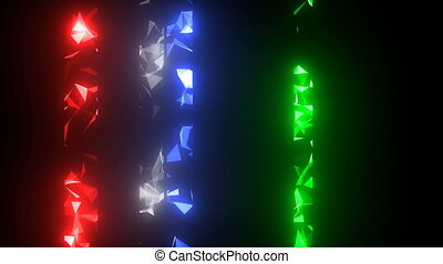 diffraction of light. Shining stripes. cinematographic background. seamless loop.