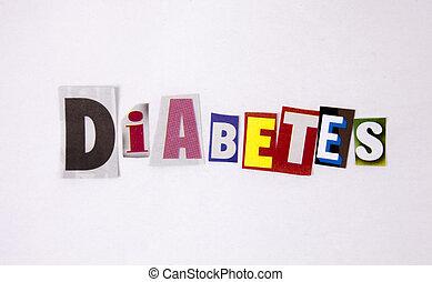 difftent, 概念, 手紙, 雑誌, 健康, 糖尿病