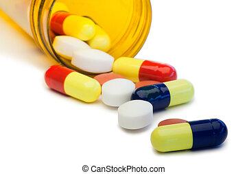diffusion, pilules, boîte