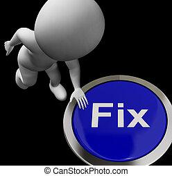 dificuldade, botão, meios, reparar, emendar, ou, restaure