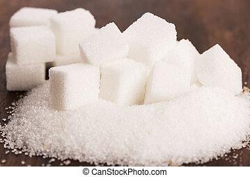 difrent, tipo, de, açúcar