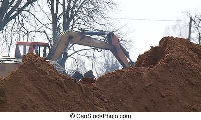 Dig a hole in an excavator. Carry out repairs. Trench and...