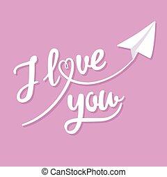 dig, kärlek, hälsningskort