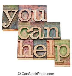 dig, kan, hjälp