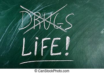 diga no, a, drogas, vida