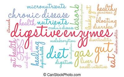 Digestive Enzymes Word Cloud - Digestive Enzymes word cloud...