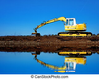 digger in the moor