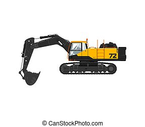 Digger isolated on white background