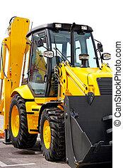 Digger - Close up shot of yellow construction digger