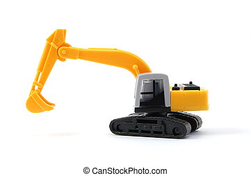 digger - toy digger showing concept for construction company