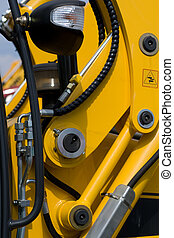 Digger\'s hydraulic hoses