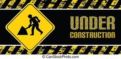 digging background - digging warning background