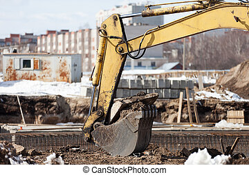 Digging machine scoop