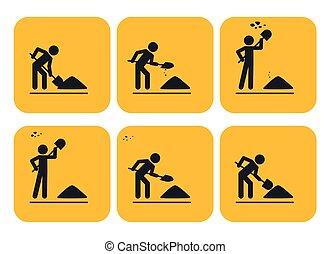 Digging man 3