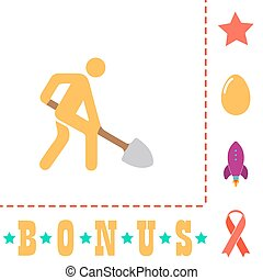 Digging man symbol