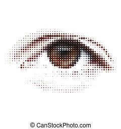 digitális, -, eye., elvont, illustration., eps, 8
