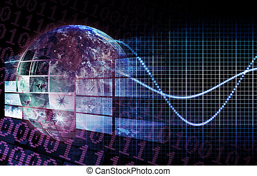digitális, hálózat