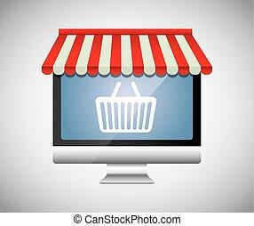 digitális, marketing, és, online, értékesítések