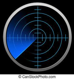 digitális, radar