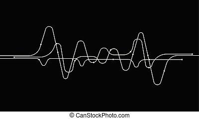 digitális, tech, frekvencia, hanghullám