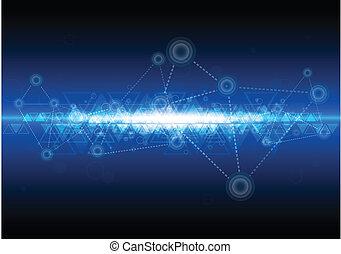 digitální, síť, technika, grafické pozadí