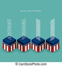 digitální, volební urna